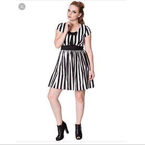 Modcloth Banned Apparel Black White Pinup Dress